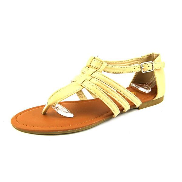 Anna Women's 'Abby-1' Synthetic Tan Sandals