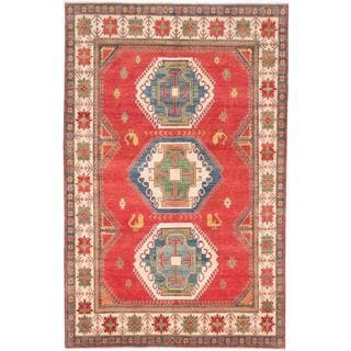 Ecarpetgallery Hand-knotted Finest Gazni Red Wool Rug (7'2 x 11'1)