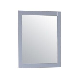 Zenith Grey Rectangle 31.5-inch Bathroom Mirror