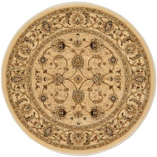 Home Dynamix Triumph Collection Traditional Polypropylene Round Machine Made Area Rug(35.4 inches x 35.4 inches)