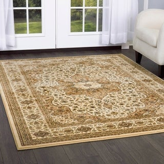 Home Dynamix Triumph Collection Traditional Polypropylene Oval Machine Made Area Rug (31.5 x 51.1)