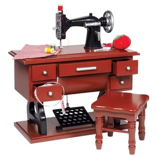 The Queen's Treasures American Style 1930 Style Sewing Machine Set & Accessories