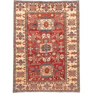 Ecarpetgallery Hand-knotted Finest Gazni Red Wool Rug (7'2 x 9'11)