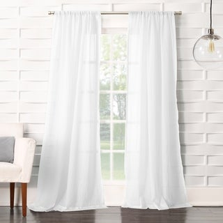 No. 918 Ladonna Rod Pocket Solid Semi-Sheer Window Curtain Panel