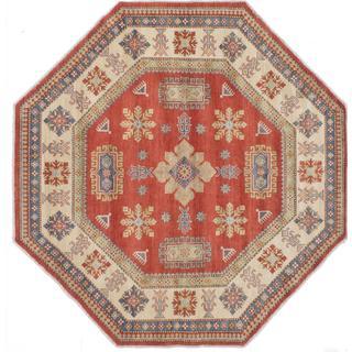Ecarpetgallery Hand-knotted Finest Gazni Brown Wool Rug (8' x 8')