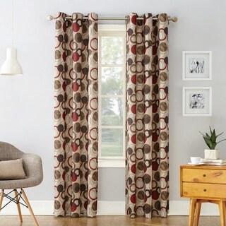 No. 918 Jetta Grommet Woven Print Window Curtain Panel (Single Panel)