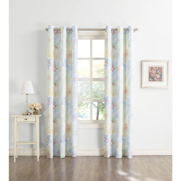No. 918 Jamis Grommet Floral Print Window Curtain Panel