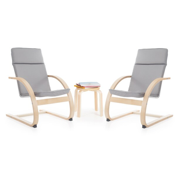 Grey Kiddie Rocker Chair Set 18151467