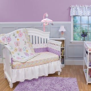 Butterfly Garden Machine Washable 4-piece Nursery Bedding and Bumper Set
