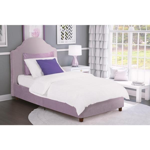 DHP Savannah Lilac Upholstered Bed