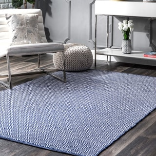 nuLOOM Handmade Flatweave Diamond Cotton Rug (9' x 12')