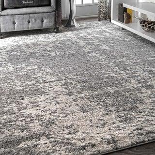 nuLOOM Contemporary Granite Mist Shades Grey Rug (7'6 x 9'6)