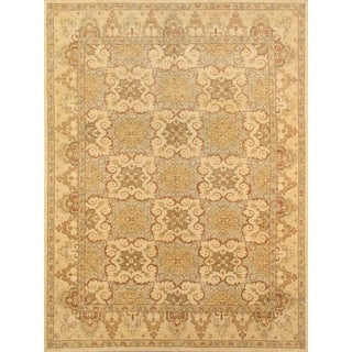 Pasargad Ferehan Hand-knotted Beige Wool Rug (9' x 12')