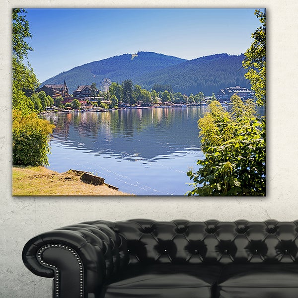 Designart - Lake Titisee Black Forest Germany - Photo Canvas Print 33411758