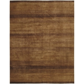 Pasargad Gabbeh Hand-knotted Light Brown Wool Rug (10' x 14')