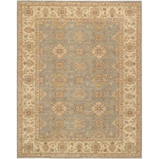 Pasargad Sultanabad Hand-knotted Light Grey and Ivory Wool Rug (9' x 12')