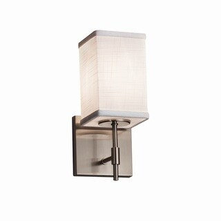 Justice Design Group Textile Union Nickel Short Wall Sconce