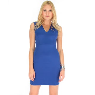 Lyss Loo Women's V-Neck Bodycon Dress