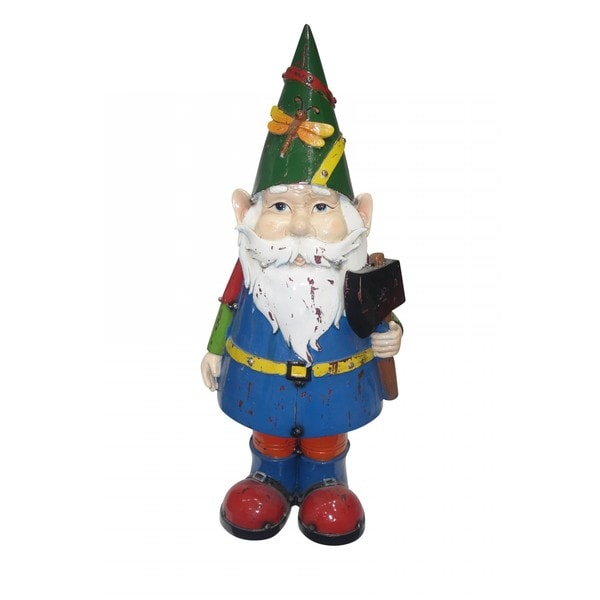 17-inch Multi-colored Gnome with an Ax