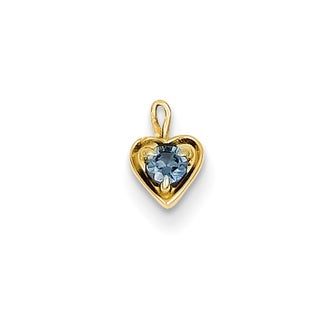 Versil 14k Yellow Gold June Birthstone Heart Charm