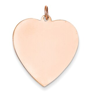 Versil 14k Rose Gold Heart Disc Charm