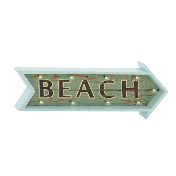 Wood LED Beach Sign