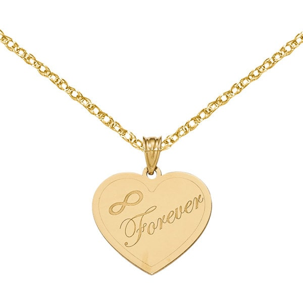 Versil 14k Yellow Gold Laser Cut Charm