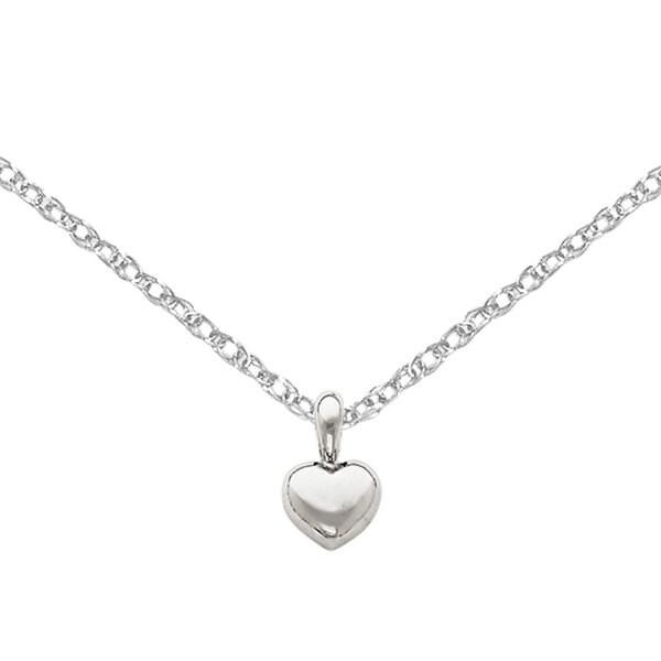 Versil 14k White Gold Small Heart Pendant