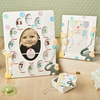 Adorable Giraffe and Elephant Baby Gift Set