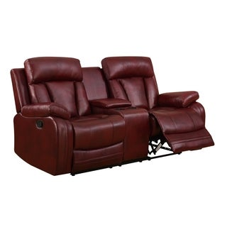 Global Furniture Burgundy Console Reclining Loveseat
