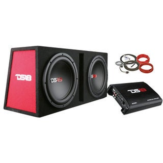 Complete Bass Package with Subwoofer, Enclosure, Amplifier, and Full Installation Kit