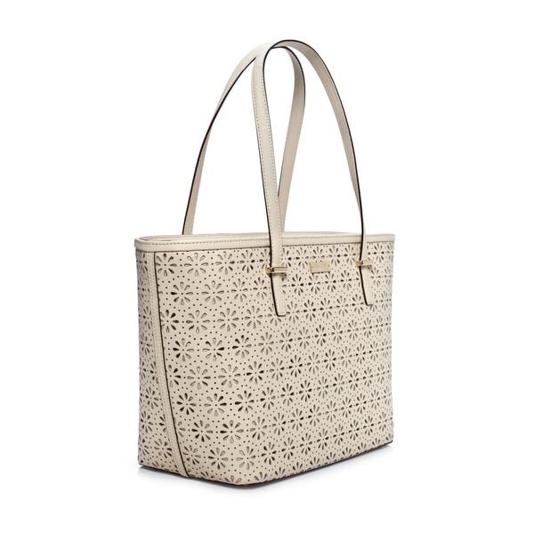 Kate Spade Cedar Street Perforated Crema de Vie Small Harmony Tote Bag