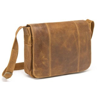 LeDonne Leather Distressed Leather Laptop Messenger
