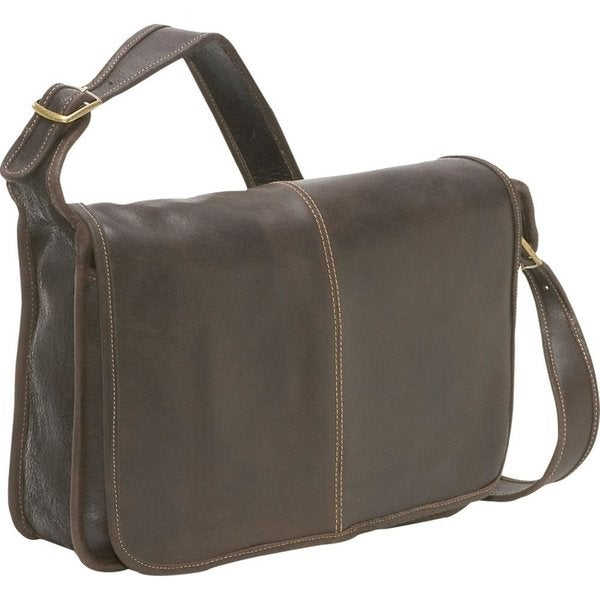 LeDonne Leather Distressed Leather Flapover Messenger Bag