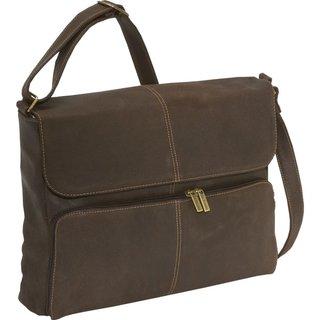 LeDonne Leather Distressed Leather Quarter Flap 15.4-inch Laptop Messenger Bag