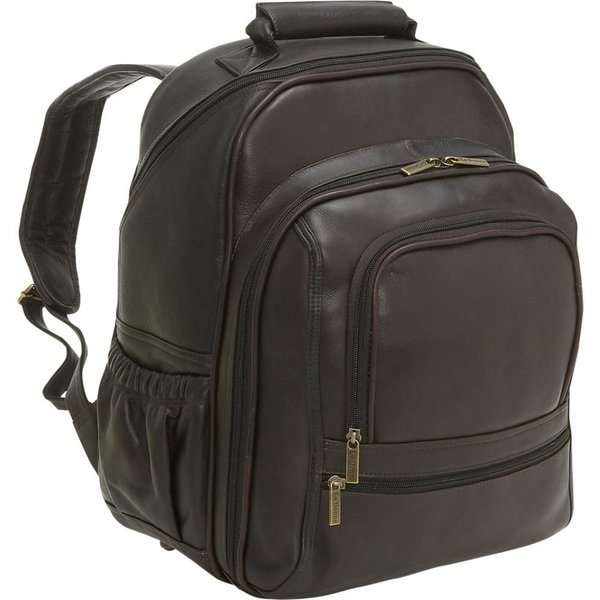 LeDonne Leather Vaqueta Large 15.4-inch Laptop Backpack 18156657