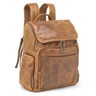 LeDonne Leather Distressed Leather Original 15.4-inch Laptop Backpack