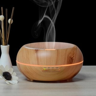iPM 200 mL Color Changing Aroma Diffuser Wood Humidifier