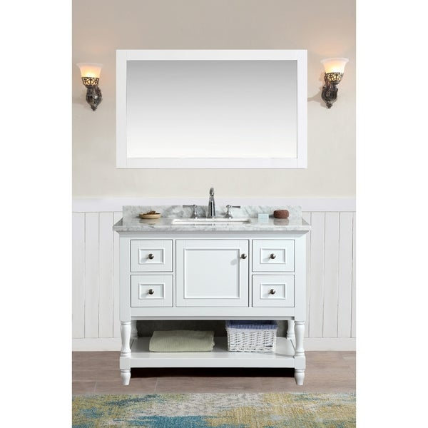 ari kitchen and bath cape cod white 42 inch single bathroom vanity set