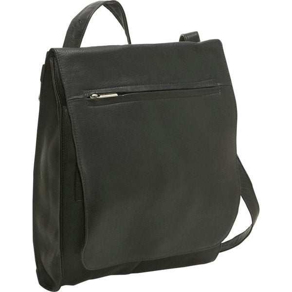 LeDonne Leather Convertible Messenger Bag/Backpack