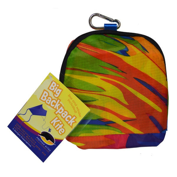 Big Back Pack Sled Kite, Tie Dye