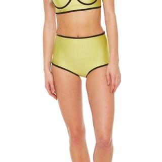 Bra Society Neoprene Yellow High Waisted Style Bikini Bottom