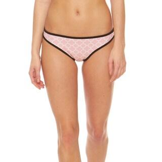 Bra Society Neoprene Pink Medium Coverage Bikini Bottom