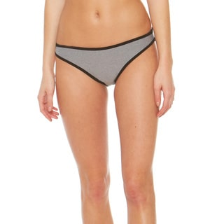 Bra Society Neoprene Grey Medium Coverage Bikini Bottom
