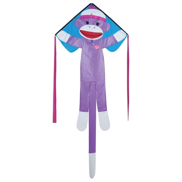 Regular Girly Sock Monkey Easy Flyer Kite