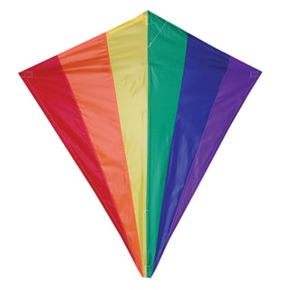 Rainbow 30-inch Diamond Kite