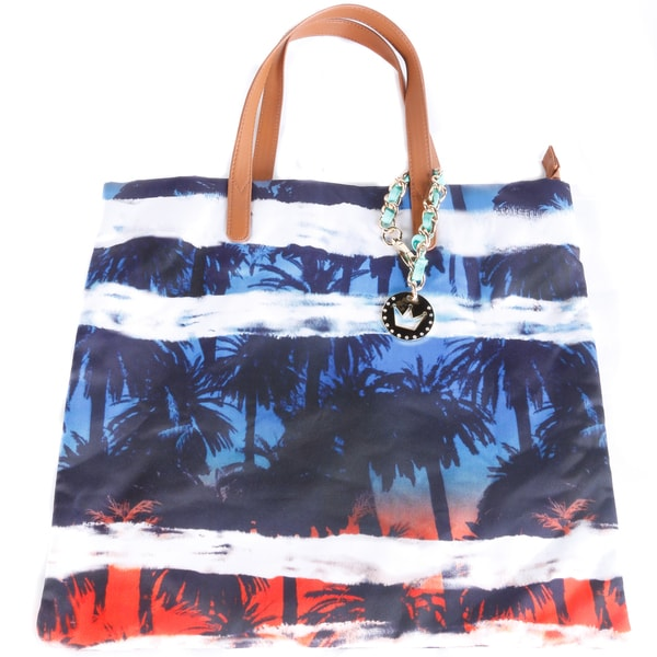 Hadari Women's Palm-Print Fabric Tote Bag
