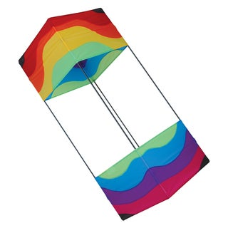 36-inch Wavy Rainbow Box Kite