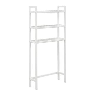 Somette Beaumont White Solid Birch Wood Space Saver