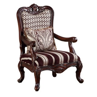 Global Furniture Striped Brown Wood Accent Chair